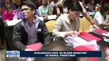 Kasunduan ukol sa blood donation sa bansa, pinagtibay