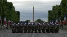 Le 12 juillet 2017 la Légion se prépare pour le défilé du 14 juillet 2017