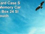 Deyard Waterresistant Memory Card Case Shockproof Memory Card Carrying Box 24 Slots