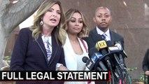 Black Chyna & Lawyer's Press Conference On Rob Kardashian Restraining Order   Attorney Lisa Bloom