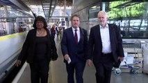 Jeremy Corbyn goes to EU for Brexit talks