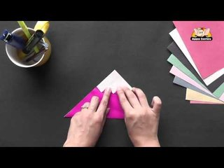 Origami - Origami in Sindhi - Learn to make a Cup Cake