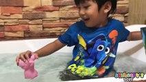 Animaux bébé bain Baignoire mignonne vivre animal de compagnie Mer grinçant la natation les tout-petits jouet jouets tortue