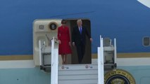Il presidente Usa Donald Trump è arrivato a Parigi con Melania