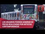 El arte de Keith Haring decora la Línea 2 del Metro