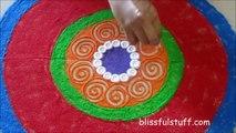 Easy rangoli design for diwali / Creative rangoli design Poonam Borkar Rangoli Designs