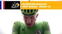 L'interview du maillot vert ŠKODA - Étape 12 - Tour de France 2017
