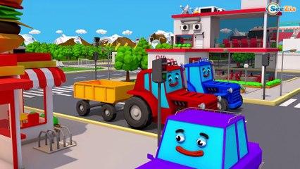 Eğitici çizgi filmi Traktör TOM ve Kamyon MAX - Yarış ve Renkli Traktörler - Akıllı arabalar