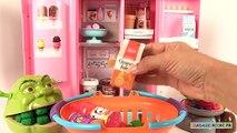 Shrek et le singe mangent des glaces Réfrigérateur Jouet Pâte à Modeler
