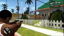 GTA IV San Andreas - Skateboard, Jetpack, Bicycle and Dual Wielding mods gameplay