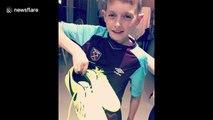 West Ham Declan Rice surprises fan with signed boots