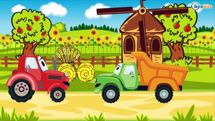 Мультфильмы про Машинки Трактор Павлик МОНСТР ТРАК Сборник 10 Минут Все серии подряд