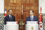 Conférence de presse commune avec Youssef Chahed, chef du gouvernement de la République tunisienne - Tunis, 5 octobre 2017