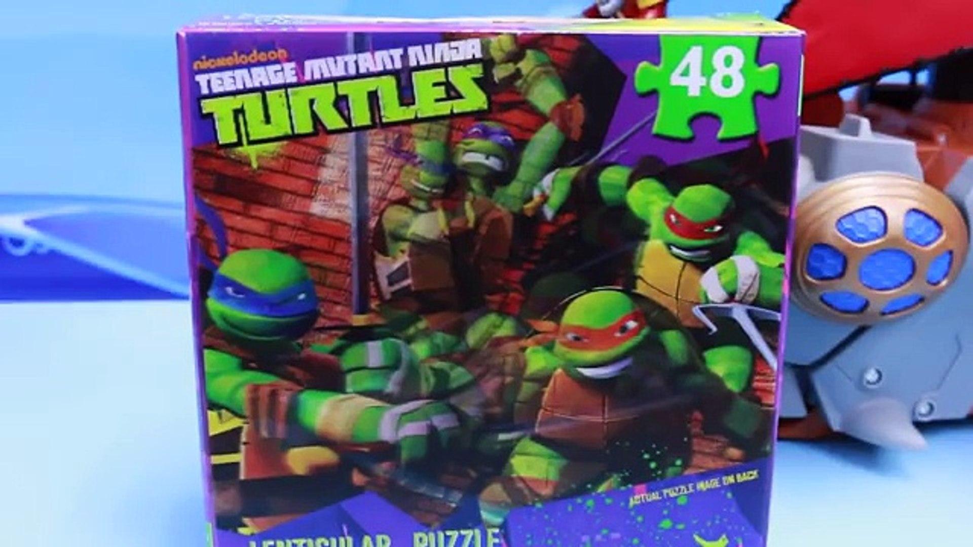 Teenage Mutant Ninja Turtles Toys Attacked by Imaginext Shark Pirate Ship Fishface Walks the Plank