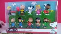 Charlie Brown Snoopy Peanuts Collectors Figure Set - The PEANUTS Movie Toys Brinquedos Em Português