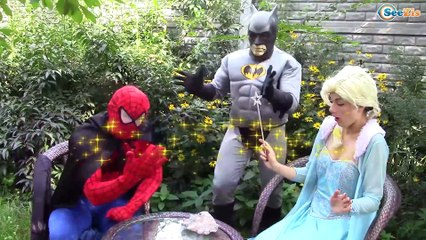 Frozen Elsa & Spiderman & Princess Anna & Joker! Elsa helps Superheroes. Superheroes in Real Life