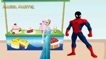 Black Spiderman giving ice cream to Masha Venom and Elsa, PJ Masks Catboy Owlette and Dora Masha and