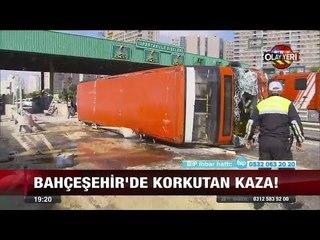 Bahçeşehir'de korkutan kaza - 3 Ekim 2017