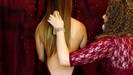 ASMR ♥ Beautiful Back Tickle Massage w/ Finger Tracing, Feathers, Whisper