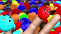 Finger Family Learn Colors 3D Candy - Baby Bath Ball Pit Color Balls - Nursery R