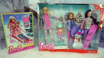 Barbie Playing in the Snow - Ice Skating, Sledding Real Snow Fun Playset - DIY Doll Skating Rink