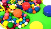 Best Learning Colors Video for Preschool Kids: Paw Patrol Racer Gumballs Play-Doh Slime Toys