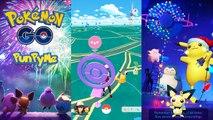CATCH PIKACHU FESTIVE POKÉMON GO | Gym Battle Pikachu Festive, Ditto vs Unown & Pichu