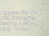 Read  When Buyers Say No Essential Strategies for Keeping a Sale Moving Forward 13a9a3d2