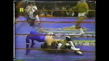 Blue Demon Jr./El Hijo del Solitario/Mano Negra vs El Hijo del Gladiador/Tony Arce/Vulcano (CMLL December 29th, 1991)