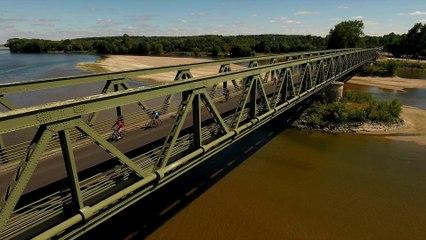 La Loire à vélo en Anjou vue du ciel