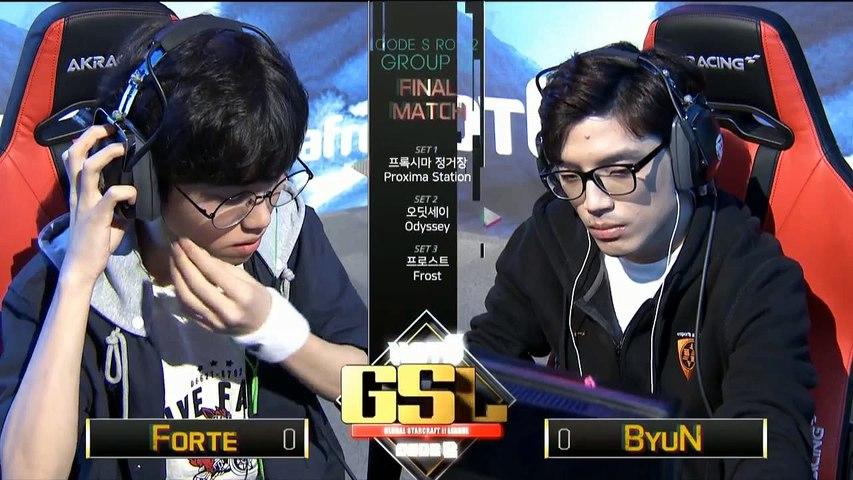 [TW]2017 GSL S3 Code S Ro.32 GroupD Match5:Forte(T) v.s. Byun(T)(Host:希兒 & Hui)