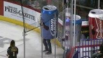 La course de canettes de bière sur glace