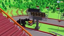 Sport Fast Cars | Red Racing Car Cartoon for Kids | 3D Cars & Trucks Stories for Kids