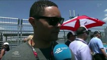 Trevor Noah of The Daily Show, at Formula-E New York 2017 - Trackside interview