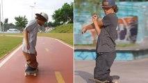 Watch Aspiring Pro Skateboarder Born Without Legs