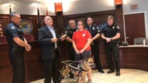 Terminally Ill Rescue Dog Sworn in as K-9 Officer as Part of Bucket List