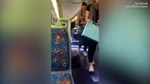 Nasty Breaks Out On A Melbourne Train Between A Pregnant Woman And Another Woman