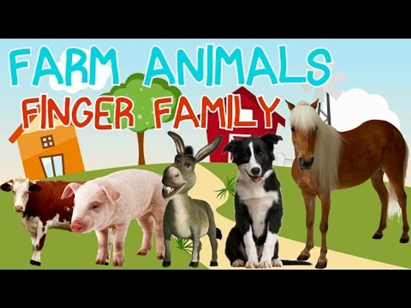 Farm Animals Finger Family | Farm Animals Nursery Rhymes for Children | Fun Toddler Learn Animal
