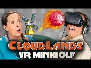 clubbing with elders elders play vr minigolf htc vive elders react gaming