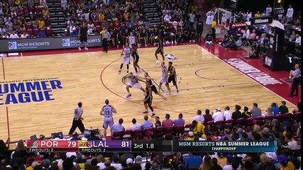 Kyle Kuzma Buzzer-Beater  Lakers vs Blazers  July 17, 2017  Final  2017 NBA Summer League