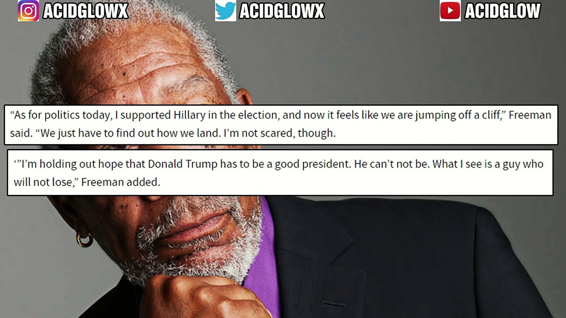 YOU WONT BELIEVE WHAT MORGAN FREEMAN SAID ABOUT DONALD TRUMP