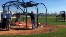 Boston Red Sox 3B Pablo Sandoval takes grounders at spring training workouts Feb. 17, 2017