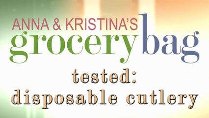 Anna and Kristina Tested - Disposable Cutlery