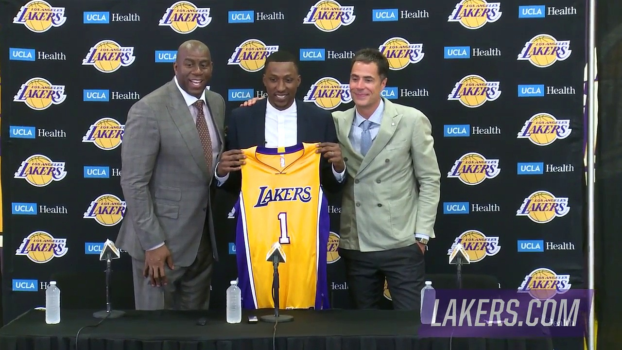 【NBA】Kentavious Caldwell-Pope Introductory Press Conference – Lakers  2017 NBA Free Agency