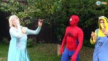 Frozen Elsa & Spiderman Elsa LOSES HER NOSE Princess Anna Joker Maleficent Superheroes in Real Life