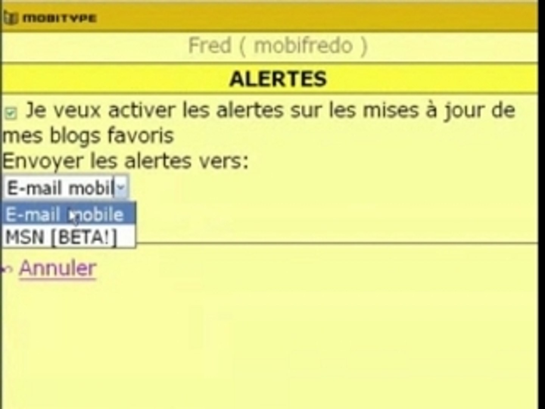 Mobitype - Vos blogs préférés sur votre mobile (1/2)
