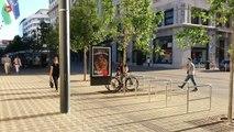 Un homme essayant de voler un vélo est pris en flagrant délit !!