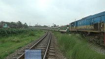 Chittagong bound Mahanagar Provati Express Train of Bangladesh Railway departing Tongi Railway Station