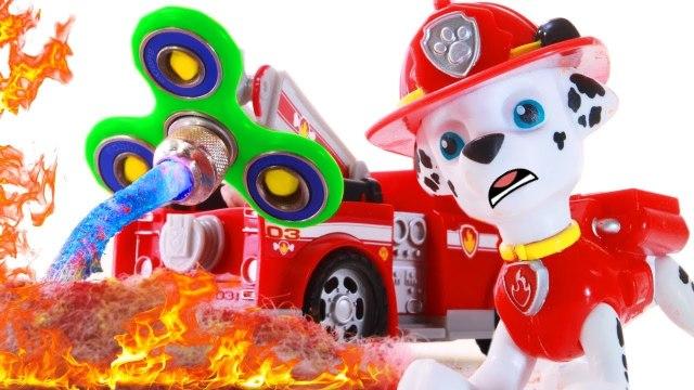 Fidget Spinner FIRETRUCK Play Doh Stop Motion Videos Paw Patrol Full Episodes