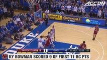 Boston College vs. Duke Mens Basketball Highlights (2016 17)